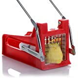 Duework Red Stainless Steel Fry Potato Cutter Potato Chips Waffle Maker Vegetable Slicer Chopper Dicer