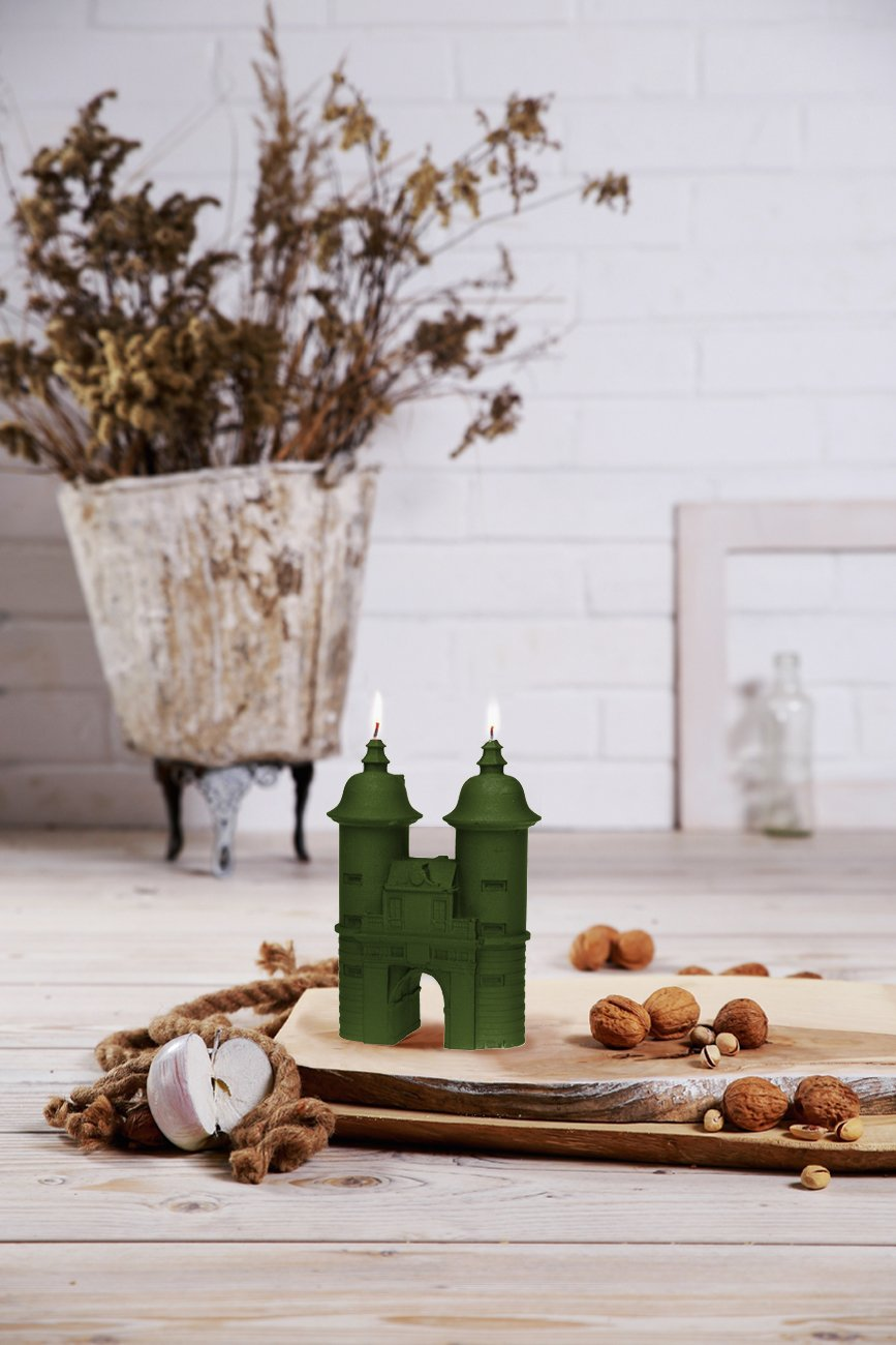 Candellana Candles 5902841368910 Gate Candles Dark Green