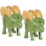 2-Pack Triceratops Taco Holder, Dinosaur Statue Taco Stands Shell Holder, Tricerataco Taco Holder, Dinosaur Taco Holder for Kids Hard Taco Holders for Taco Tuesday Birthday Party & Dino Taco Party