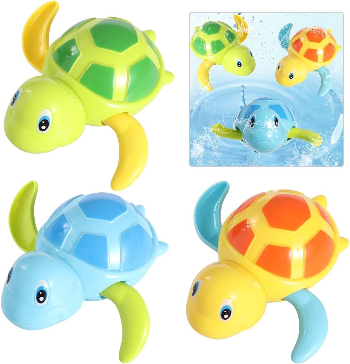 TOYMYTOY 3pcs bebé baño juguetes de natación bañera linda tortuga natación juguetes
