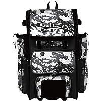 "Boombah Rolling Superpack 2.0 Rocket Baseball/Softball Gear Bag - 23-1/2"" x 13-1/2"" x 9-1/2"" - Multiple Colors…"