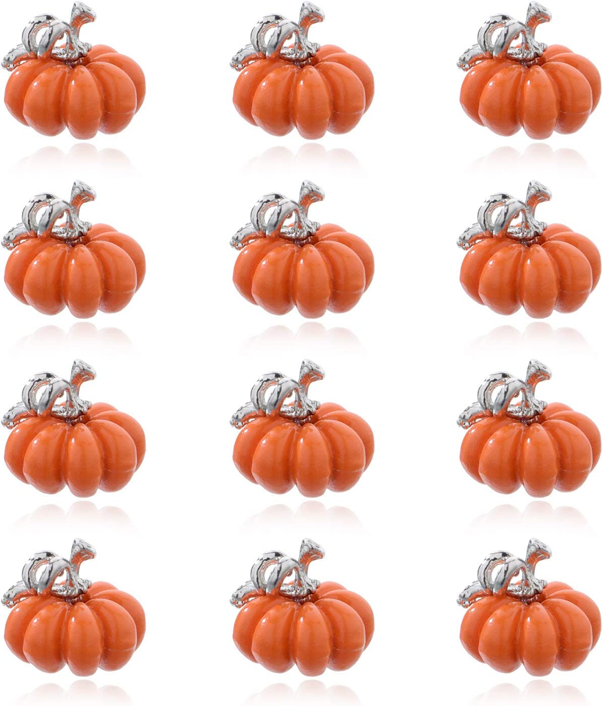 10Pcs Charms Enamel Pumpkin Thanksgiving Halloween Pendant DIY Jewelry Findings