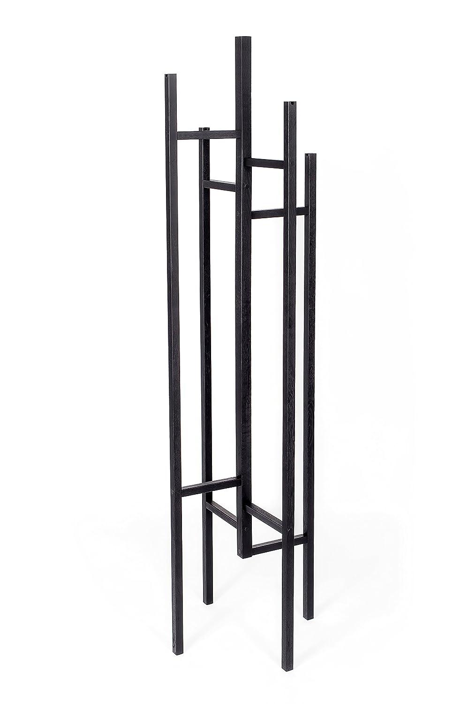 Woodman Eigen Garderobenständer, Holz, schwarz, schwarz, schwarz, 47 x 47 x 175 cm 741bfb