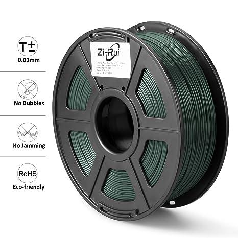 Amazon.com: Zi-Rui - Filamento PLA 3D para impresora, tri ...