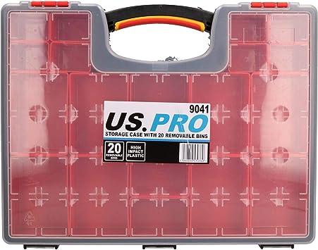 Caja almacenamiento herramientas con 20 compartimentos extraíbles caja plástico: Amazon.es: Bricolaje y herramientas