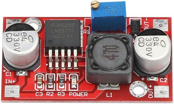 ampli LM2577 augmenter le r/égulateur de tension de module 3.5-30V /à 4-30V DC r/égulateur Droking Boost Buck Converter