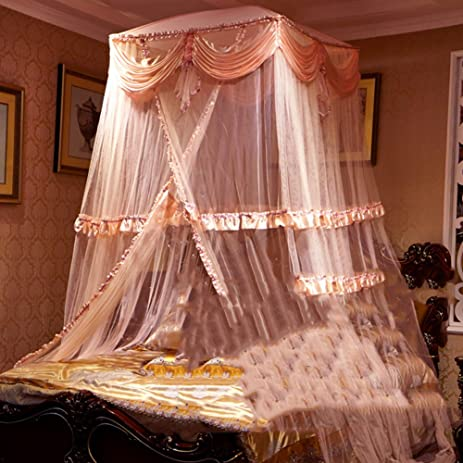 FashionSimple Home Hanging Mosquito Nets/Exquisite Dome Double Bed Mosquito Net/Korean : wind curtain for canopy - memphite.com