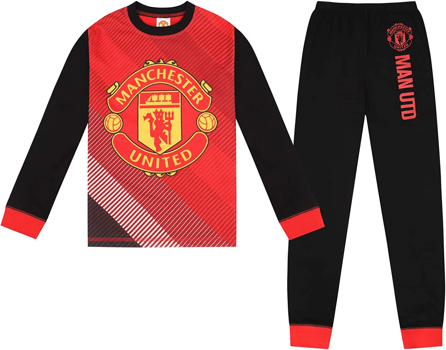 Details about  /Licensed Official Boys Manchester United Pyjama Pjs MUFC Fan Gift Idea 5 sizes