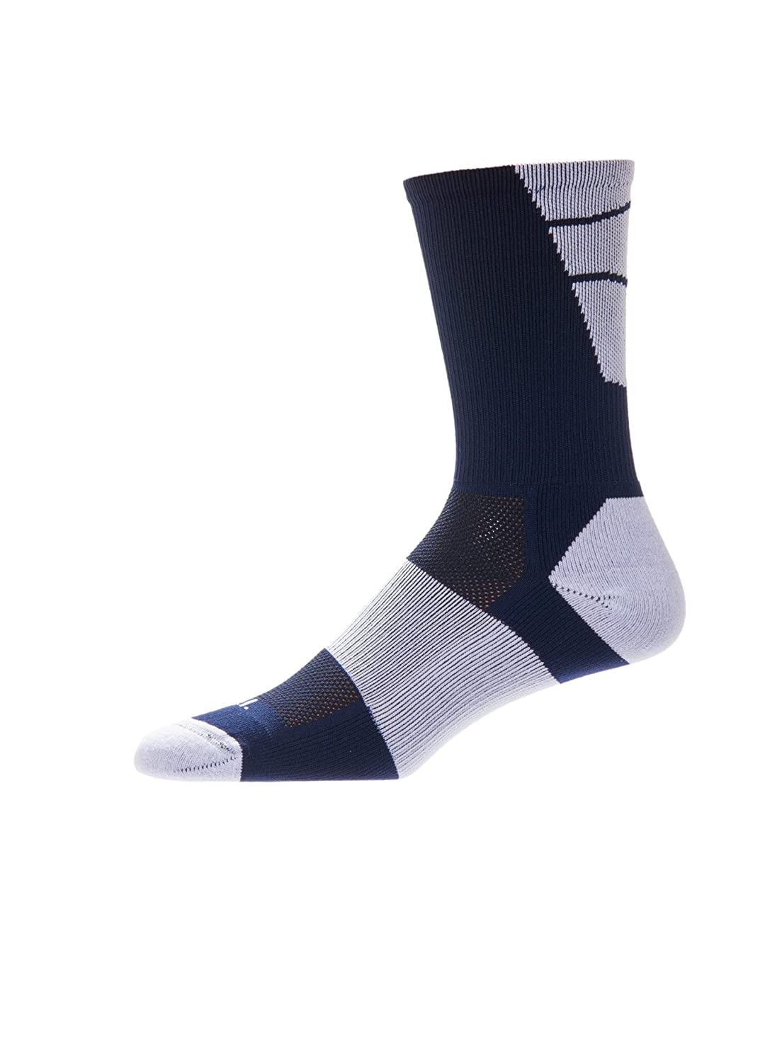 CSI Point Guard Performance Crew Socks Made In The USA Navy/White 6MAN8017