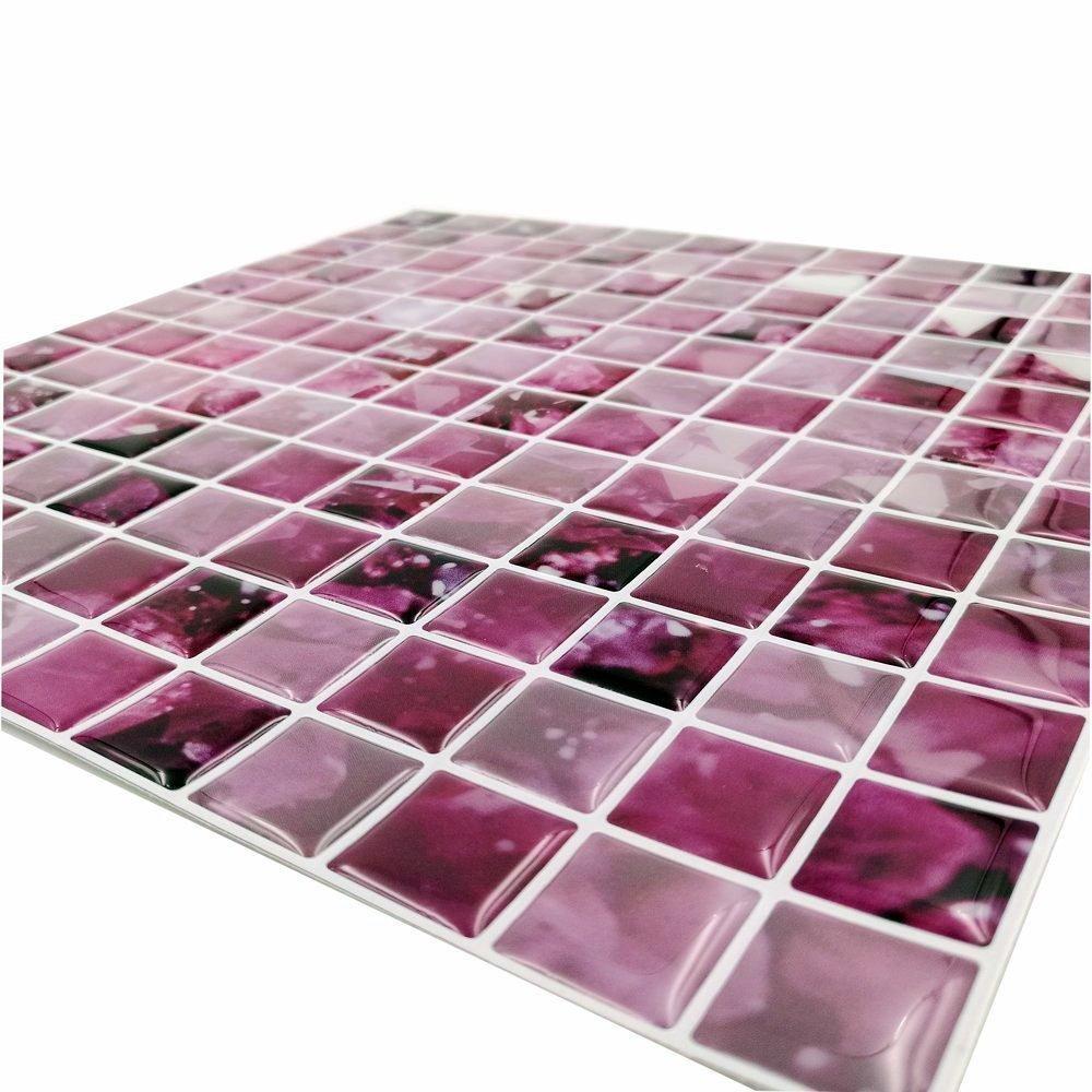 Cocotik Peel and Stick Tile Purple 3D Kitchen Backsplash Tile 10\