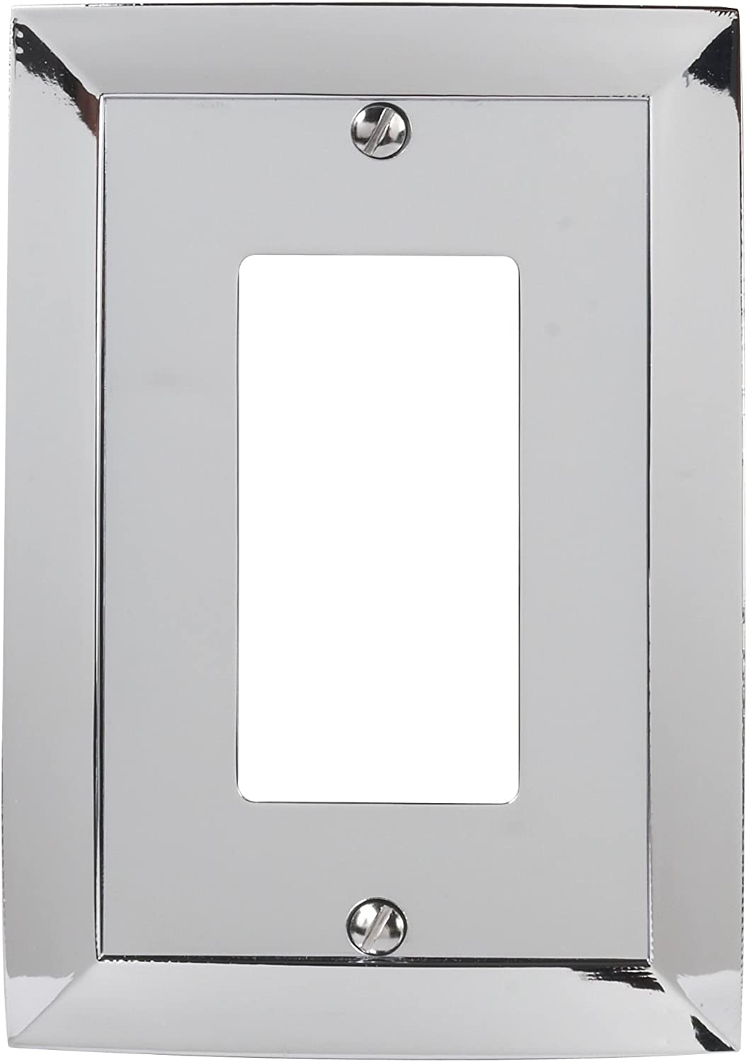 Amerelle Studio Single Rocker Cast Metal Wallplate in Polished Chrome