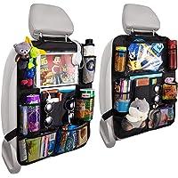 $24 » Reserwa Backseat Car Organizer Kick Mats BackSeat Storage Bag with Clear Screen…