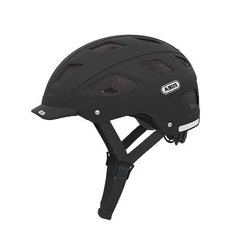 ABUS Hyban Velvet Patinete Negro - Cascos de protección para deportes, Mate, M 52-58