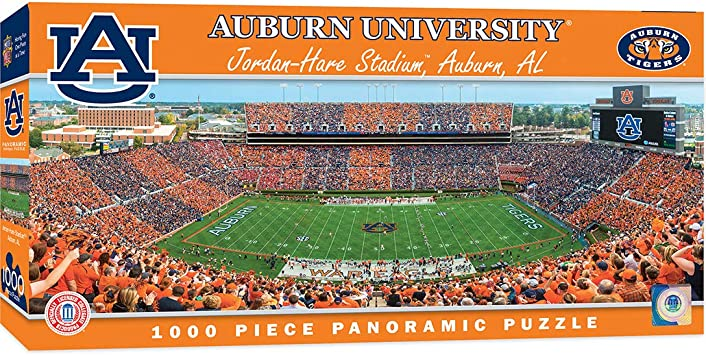 Masterpieces Ncaa Auburn Tigers Stadium Panoramic Jigsaw Puzzle Jordan Hare 1000 Pieces