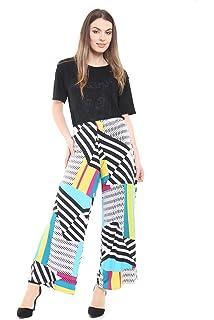 53fc14c633f40 WearAll Plus Size Womens Plain Palazzo Wide Leg Flared Ladies Trousers  Pants - 16-26