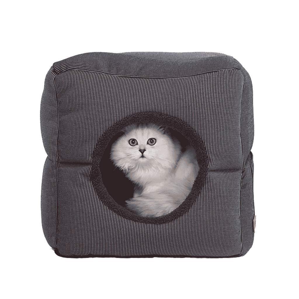 FJH Cat Litter Winter Warm Closed Deep Sleep Four Seasons Universal Cat House House Villa Pet Cat Bed