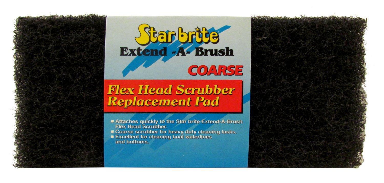 White FINE Starbrite Extend-a-Brush Flex Head Scrubber Replacement Pad