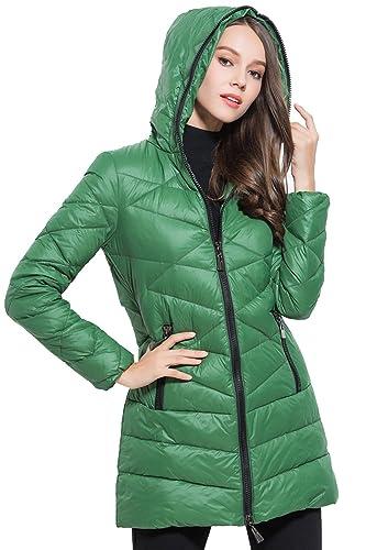 Elegante capucha abajo chaqueta mujer con bolsillos