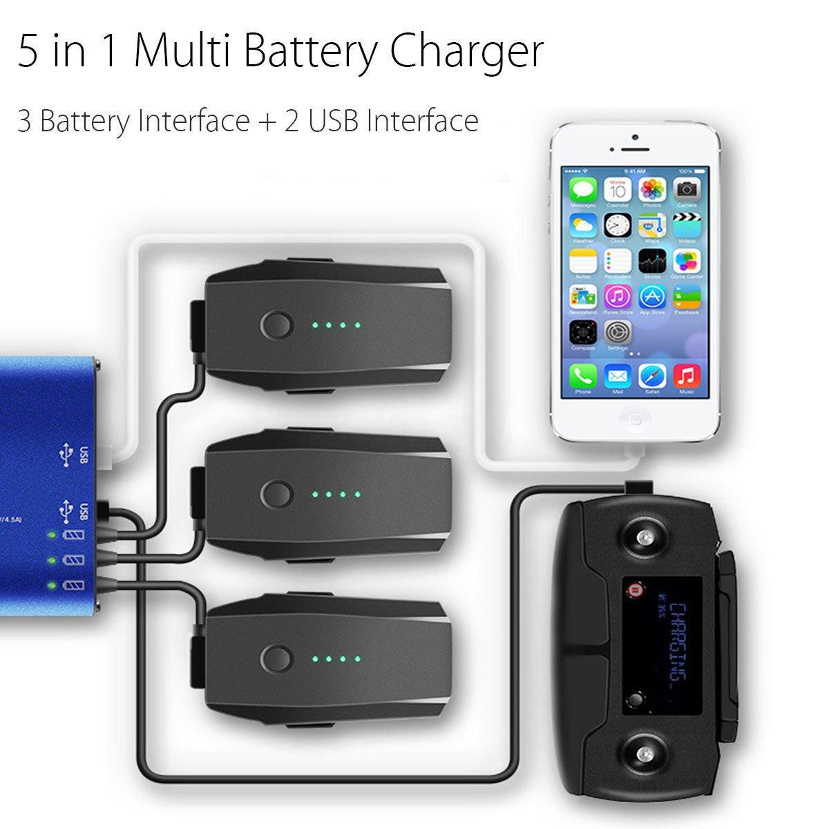 Signstek FSLabs DJI Mavic Pro 5 in 1 Rapid Battery Charger Smart Multi Battery Intelligent Charging Hub by Signstek (Image #1)
