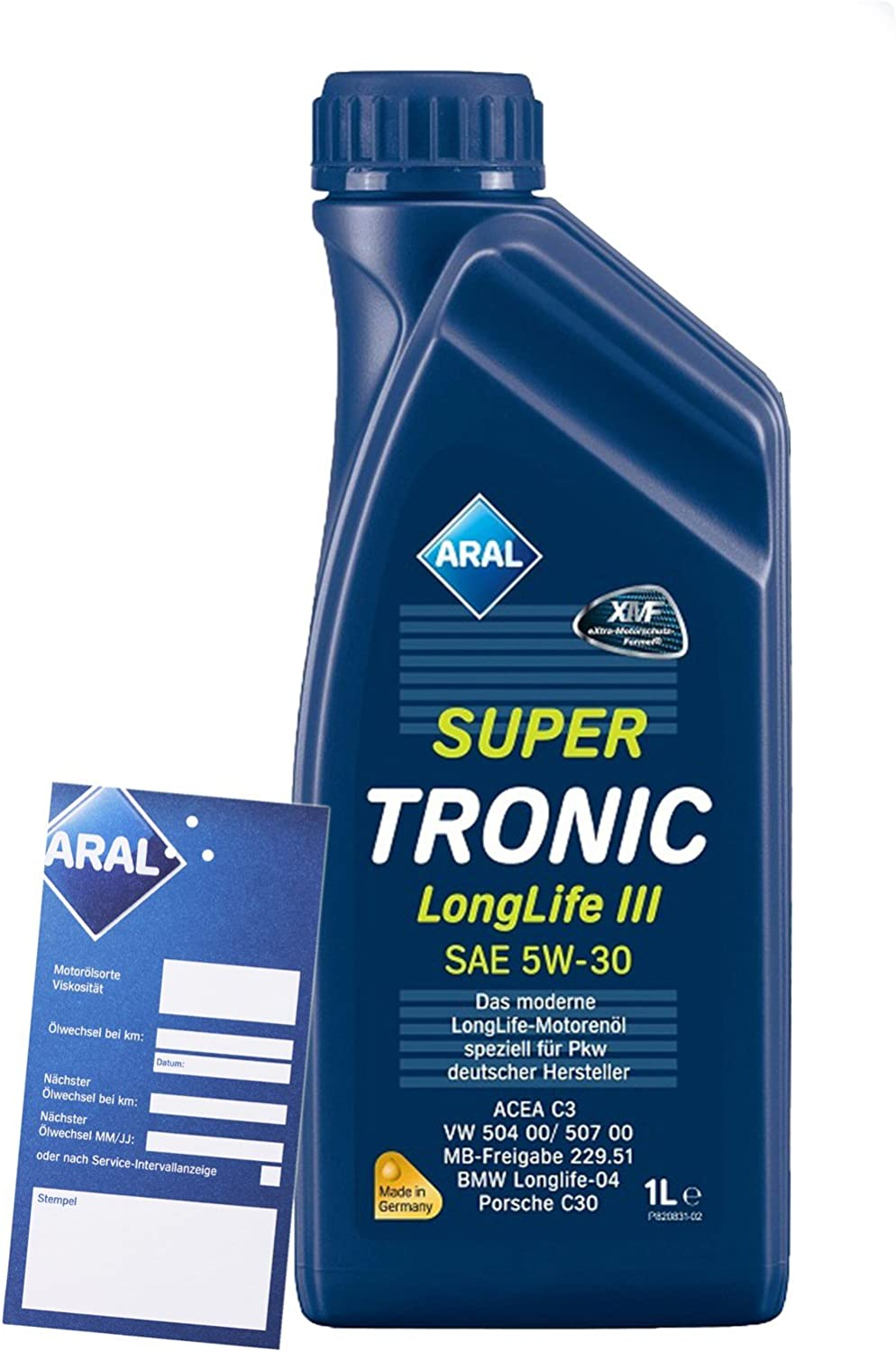 1 Litre Aral Supertronic Longlife Iii 3 5w 30 Engine Oil Including Oil Change Trailer Auto
