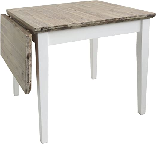 Florencia Mesa Cuadrada Extended (75 – 110 cm). Color Blanco Mesa ...