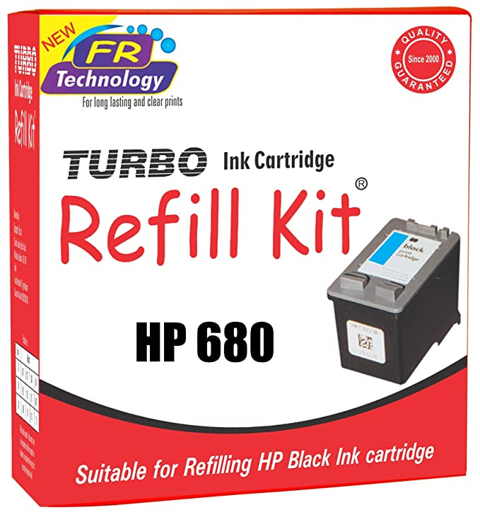 TURBO INK CARTRIDGE REFILL KIT for HP 680 Black Ink Cartridge Ink Cartridges