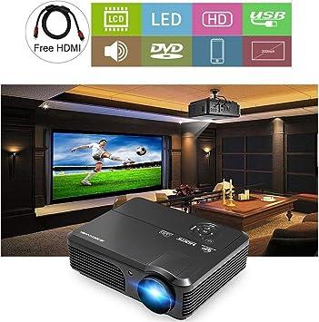 CAIWEI Proyector de video HD 1080P 4200 Lumen Pantalla LCD LED ...