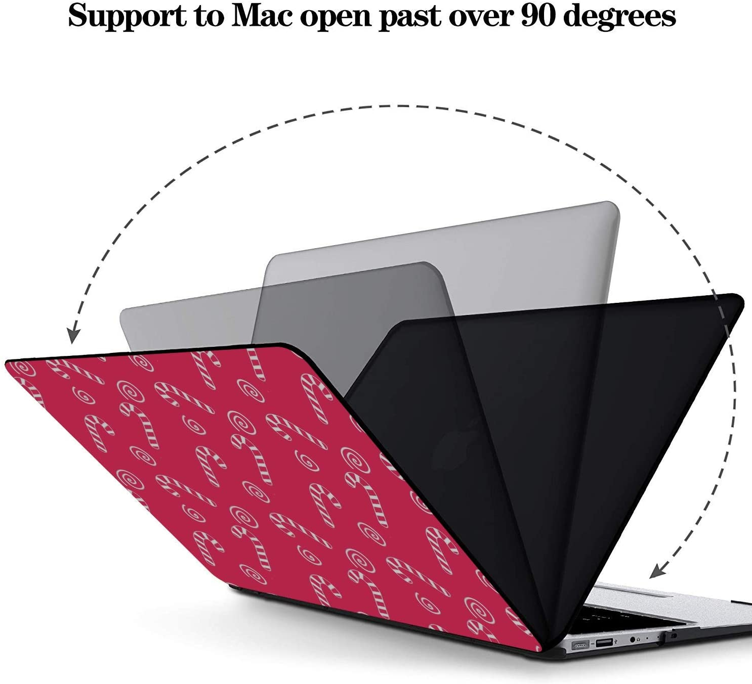 13inch MacBook Pro Case Sweet Cartoon Dessert Chocolate Roll Plastic Hard Shell Compatible Mac Air 11 Pro 13 15 2018 MacBook Air Case Protection for MacBook 2016-2019 Version
