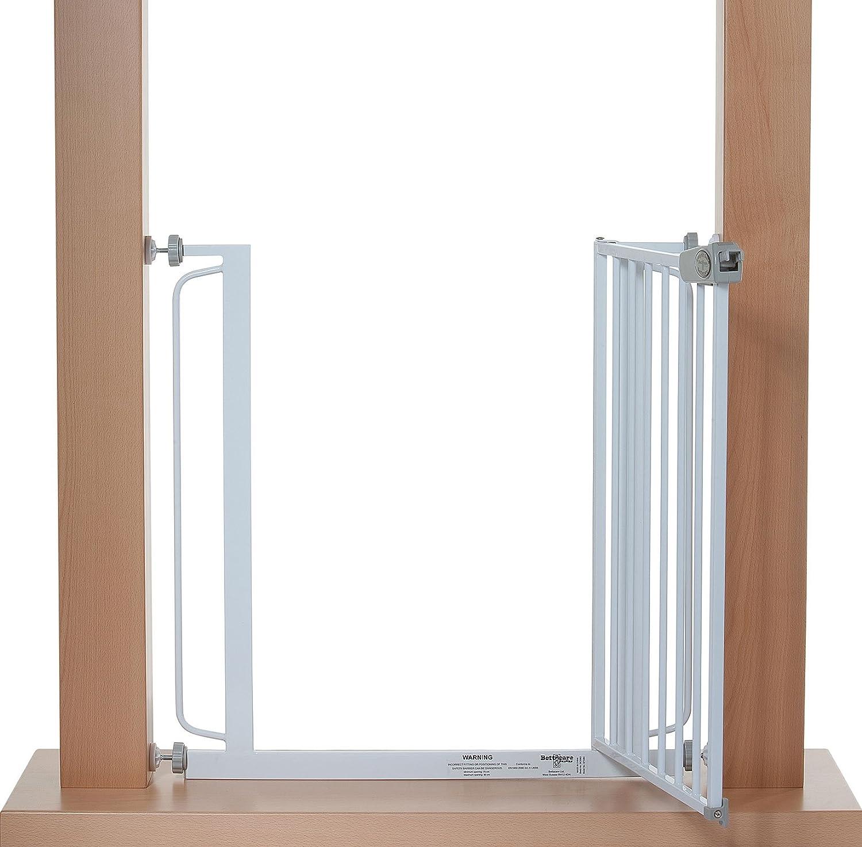 Türschutzgitter Treppenschutzgitter Weiß 121 - 128 cm ohne bohren ...