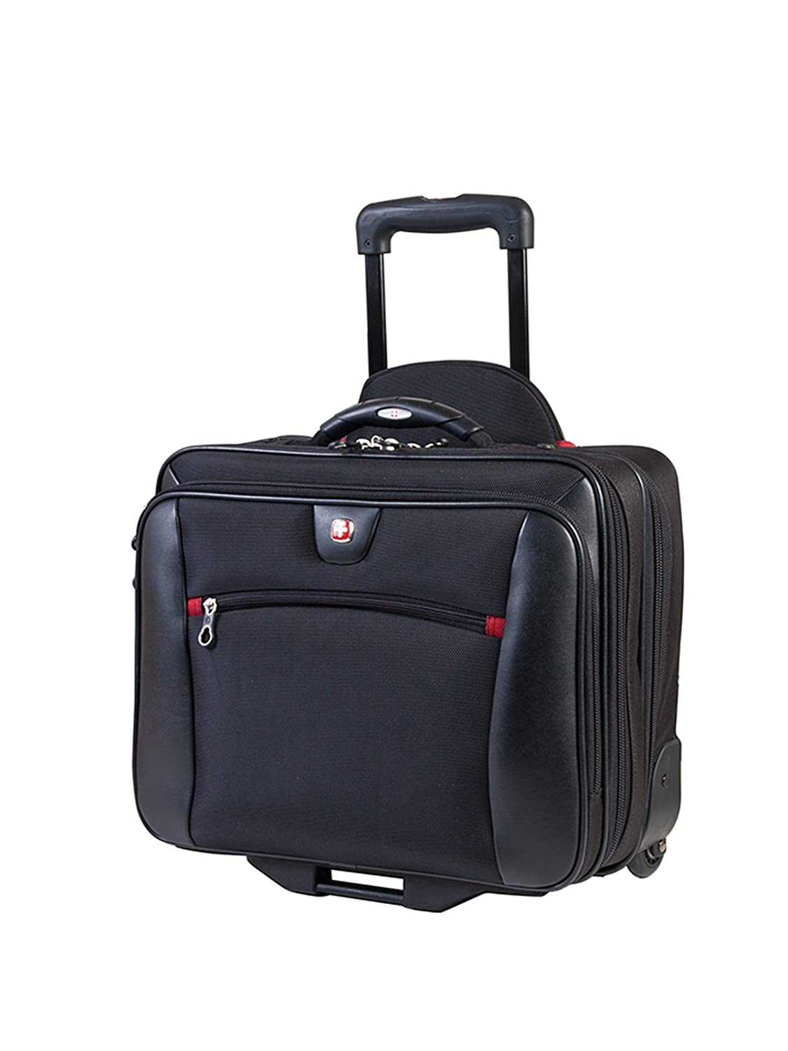 Swiss Gear International Carry-On Size Wheeled Case - Holds Up to 15.6-Inch Laptop and fits 7-Inch Tablet, Black Holiday Luggage SWA0990009