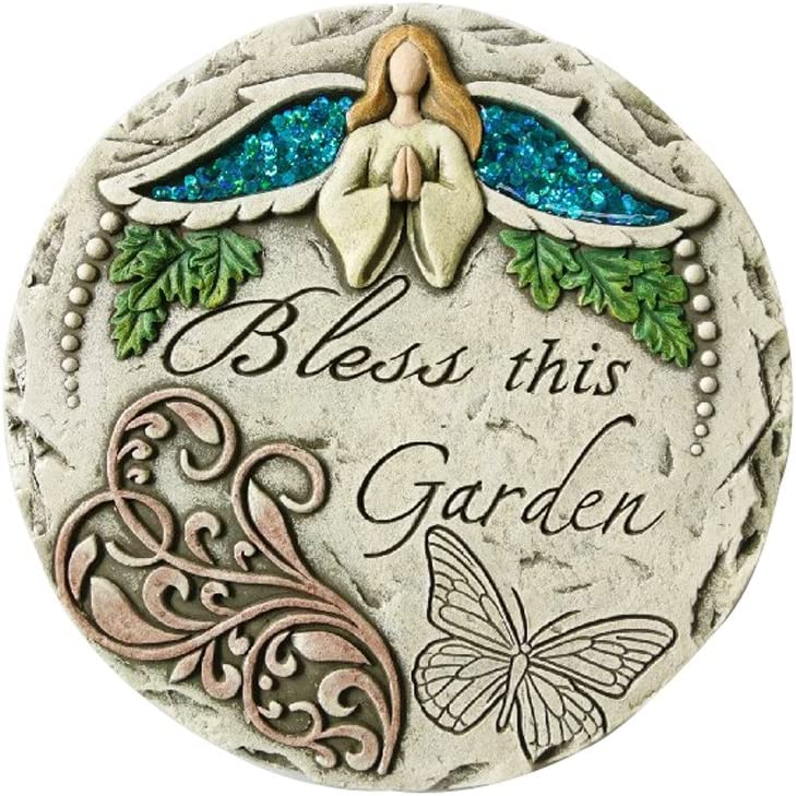 Comfy Hour Angel Bless This Garden Stepping Stone