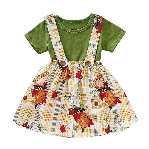 Hopwin baby dress Conjunto de Ropa de Tirantes para niñas de 1 a 5 ...