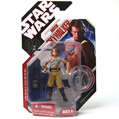 STAR WARS ANAKIN SKYWALKER CLONE WARS with TATTOOS 30th Anniversary with Coin: Toys & Games