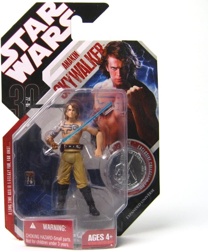 STAR WARS ANAKIN SKYWALKER CLONE WARS with TATTOOS 30th Anniversary with Coin