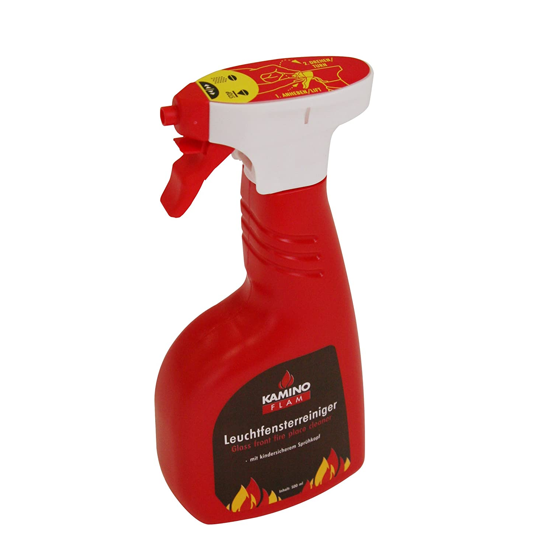 Kamino-Flam Detergente vetro camino stufa, pulitore vetro camino, stufa, forno, detergente pulizia fuliggine, grasso, catrame, 500 ml Kamino - Flam 333145