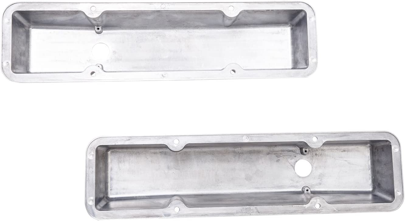 Top Street Performance JM8501-8 Tall Finned Cast Aluminum Valve Cover Short Bolt with Breather Hole