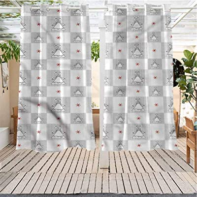 Outdoor Curtains Gazebo Outdoor Window Panels Christmas Decoration Angel Little Angle Kids Noel Pergola Indoor Outdoor Waterproof (38W X 45L) : Garden & Outdoor