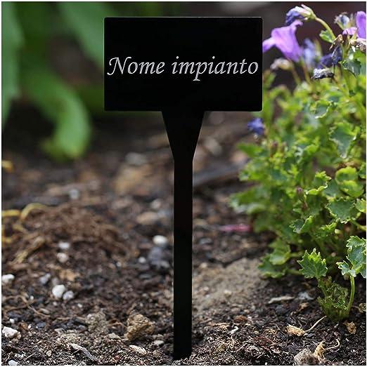 Molto elegante Acrilico piantare Segni, Nero – Resistente todos ...