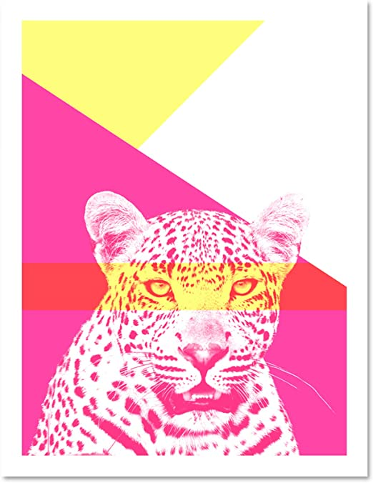 Pink Leopard Giclee Canvas Wall Art Picture