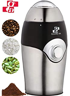Amazon.com: Molinillo de café eléctrico, acero inoxidable ...