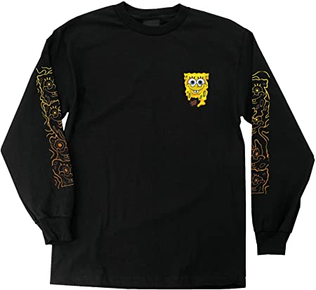 Bob Esponja derretir ajuste regular 6 oz. Camiseta L/S,Pequeña impresión frontal.,Mangas largas,Impr