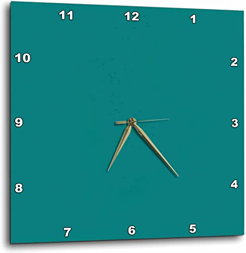 3dRose DPP_31987_2 Cool Teal Wall Clock, 13 by 13-Inch