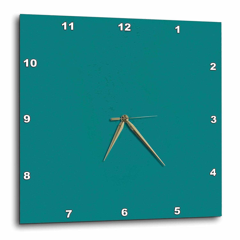 13x13 Wall Clock dpp/_31987/_2 3dRose Florene Designer Colors Cool Teal