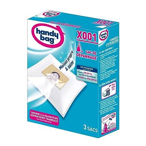 Handy Bag X001 Universal Bolsa para el polvo accesorio y suministro de vacío - Accesorio para aspiradora (Universal, Bolsa para el polvo, Blanco, ...