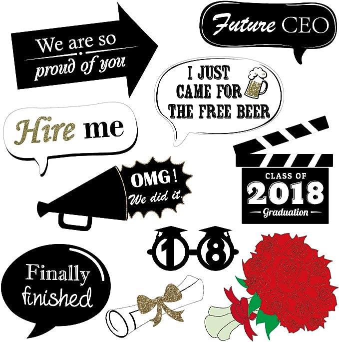 unomor 2018 graduación Photo Booth props Kit, barba, labios, gafas ...