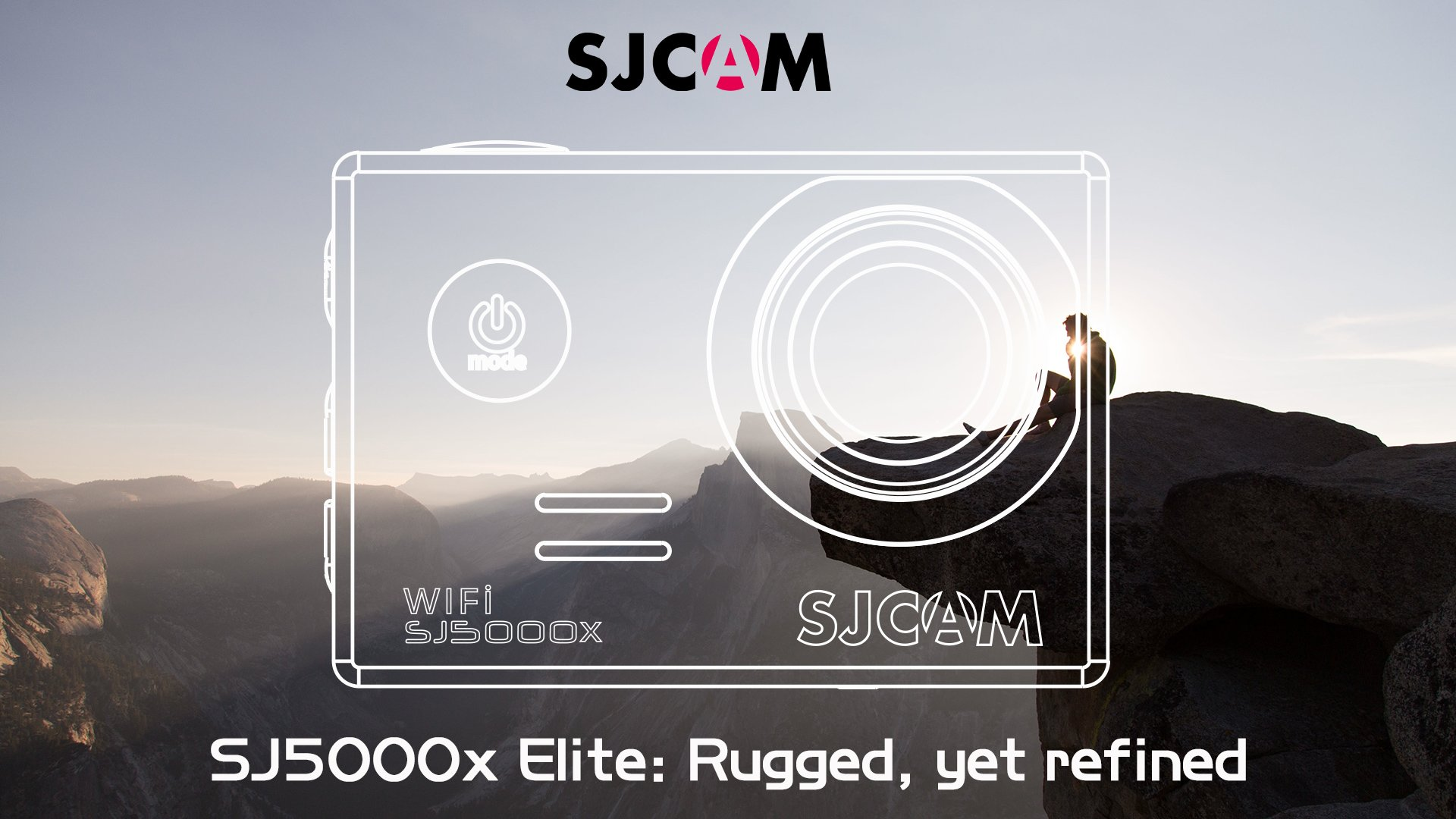 SJCAM SJ5000X Elite Action Camera 4K 24fps 1080P WiFi 2.0 LCD 12MP SONY IMX078 Gyro Sports Waterproof Cam DV/VCR/CAR/DVR Camcorder OSD Enabled for Motorcycle Diving Swimming (Red)