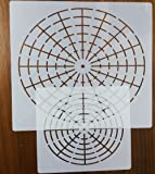 Mandala Dotting Stencils Mandala Dot Painting Stencils Mylar Painting Stencils (8 Segments + 16 Segments)