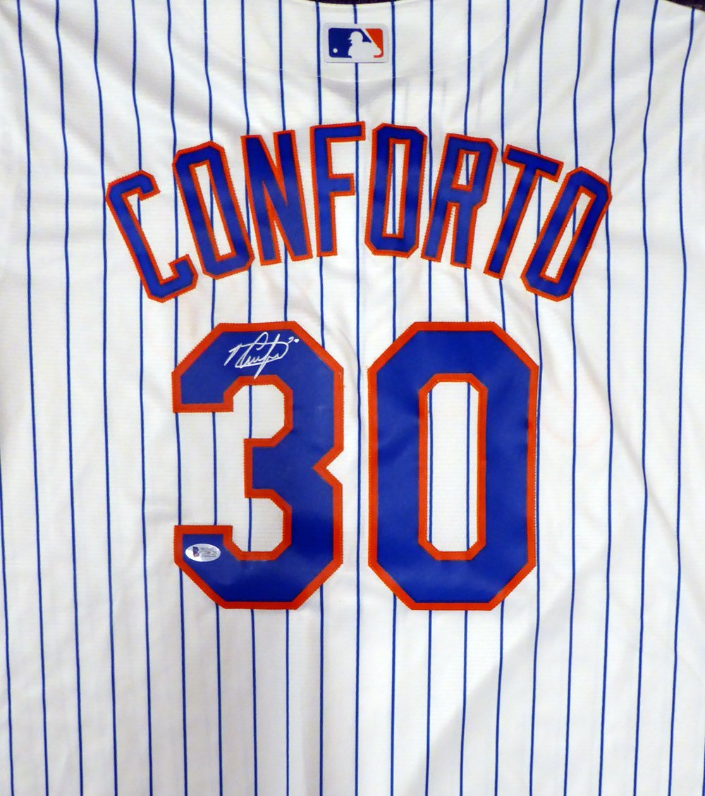 competitive price 510ac ab29a New York Mets Michael Conforto Autographed White Majestic ...