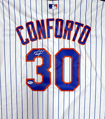 aa263e638 New York Mets Michael Conforto Autographed White Majestic Cool Base Jersey  Size XL Beckett BAS at Amazon s Sports Collectibles Store