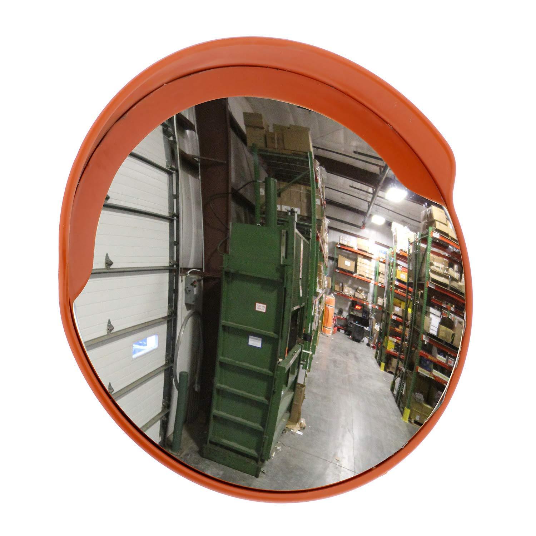 JHDUID Specchietto Convesso di Sicurezza per vialetti daccesso Specchietti retrovisori acrilici per specchi retrovisori Esterni di Grandi Dimensioni,45cm